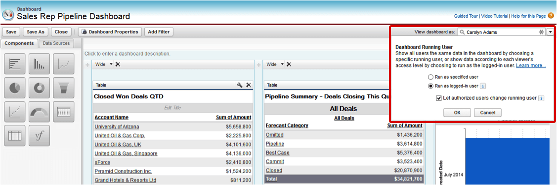 Sales Rep Pipeline Dashboard