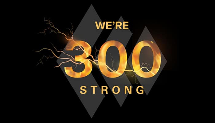 Celebrating 300 strong at Simplus!